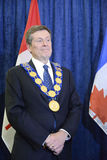 John Tory officially sworning in as Toronto's 65th mayor in City hall, Toronto, Canada. Royalty Free Stock Image