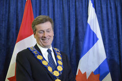 John Tory officially sworning in as Toronto's 65th mayor in City hall, Toronto, Canada. Stock Images