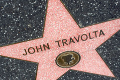 John Travolta. HOLLYWOOD - CALIFORNIA 2010: John Travolta's star at the Hollywood's Walk of Fame. He's famous for his movies Grease and Pulp Fiction. February 10 Stock Photography