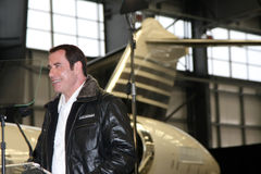 John Travolta. LOS ANGELES - SEP 20:  John Travolta at the Bombardier Aircraft Event announcing John Travolta as the Spokesperson for Bombardier at Hanger 25 Stock Image