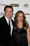 John Travolta, Kelly Preston lizenzfreies stockfoto