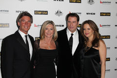 John Travolta,Kelly Preston,Olivia Newton-John Royalty Free Stock Photography