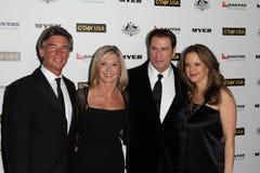 John Travolta,Kelly Preston,Olivia Newton-John Royalty Free Stock Photography