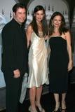 John Travolta, Katie Holmes, Kelly Preston stockbild