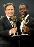 John Travolta och Sterling K medf8ort royaltyfri foto