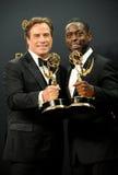 John Travolta och Sterling K medf8ort royaltyfria bilder