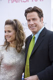 John Travolta und Kelley Preston 3 Stockbild