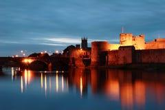 John van de koning Kasteel, Limerick, Ierland Stock Afbeeldingen