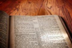 John van het bijbel Beroemd Vers 3:16 op Rustieke Houten Achtergrond Royalty-vrije Stock Foto