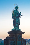 John van standbeeld Nepomuk Royalty-vrije Stock Fotografie