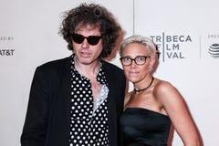 John W. Walterr and Vanessa Gould. NEW YORK, NY - MAY 03. 2019: John W. Walterr and Vanessa Gould attends at  `It Takes A Lunatic`  2019 Tribeca Film Festival at stock image