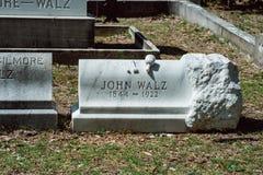 John Walz Cemetery Statuary Statue Bonaventure Cemetery Savannah Georgia stock photos