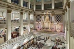 The John Wanamaker Organ, Philadelphia. Pennsylvania. The glorious pipe organ at the famous department store Stock Images