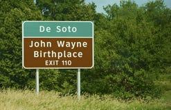John Wayne Birthplace Stock Photos