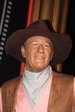 John Wayne en señora Tussauds fotografía de archivo