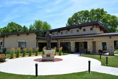 John Wayne Museum-Winterset Iowa Arkivbild