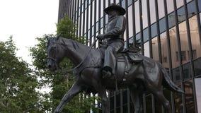 John Wayne Sculpture stock footage