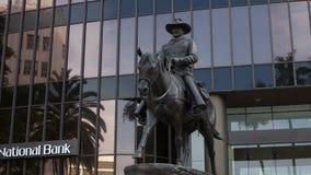 John Wayne Statue stock footage