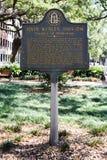 John Wesley Historical Placard in savana, GA Fotografia Stock Libera da Diritti