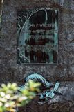 John Wheaton Cemetery Statuary Statue Bonaventure kyrkogård Savannah Georgia arkivfoto