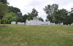 John Wingate Weeks Secretary of War Grave in Arlington Cemetery from Virginia USA Stock Photography