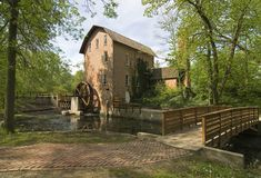 John Wood Grist Mill. Located in deep river county park, near ainsworth, Indiana Royalty Free Stock Photo