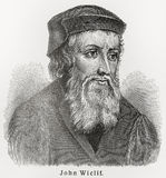 John Wycliffe. (1328 - 1384) was an English Scholastic philosopher, theologian, lay preacher, translator, reformer and university teacher who was known as an Stock Image