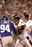 Johnathan Ogden protects Trent Dilfer Stock Photo