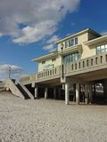 Johnnie Mercer`s Fishing Pier in Wrightsville Beach, North Carolina. Near Wilmington Royalty Free Stock Photography