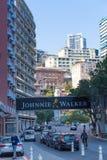 Johnnie Walker-Anzeige für das Monaco Grandprix 2015 Stockbild