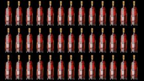 Johnnie Walker-Goldkennsatz-Vorbehalt Lebhafte Flasche vektor abbildung