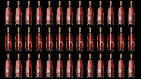 Johnnie Walker-Goldkennsatz-Vorbehalt Lebhafte Flasche stock abbildung