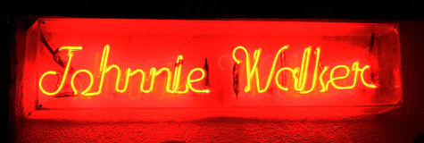 Johnnie Walker znak Fotografia Stock