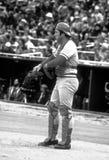 Johnny Bench Cincinnati Reds. Johnny Bench Hall of Fame player for the Cincinnati Reds at bat during regular season game stock photos