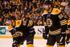 Johnny Boychuk and David Krejci Boston Bruins Royalty Free Stock Photography