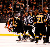 Johnny Boychuk and Max Talbot fight Royalty Free Stock Photography
