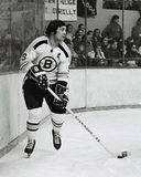 Johnny Bucyk, Boston Bruins Fotos de Stock Royalty Free