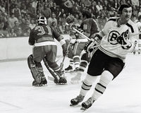 Johnny Bucyk, Boston Bruins Foto de Stock