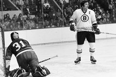 Johnny Bucyk, Boston Bruins Στοκ Εικόνα