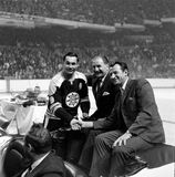 Johnny Bucyk, Boston Bruins Stock Photo