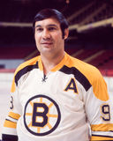Johnny Bucyk, Boston Bruins. Boston Bruins Hall of Fame forward Johnny Bucyk.  (Taken from color slide Stock Image