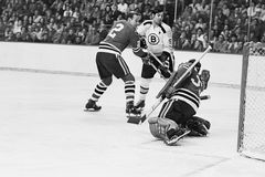 Johnny Bucyk and Tony Esposito. Stock Images