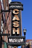 Johnny Cash museum in Tennessee. Johnny Cash museum signboard, Nashville, Tennessee, USA Stock Images