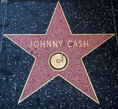 Johnny Cash-` s Stern, Hollywood-Weg des Ruhmes - 11. August 2017 - Hollywood Boulevard, Los Angeles, Kalifornien, CA Lizenzfreie Stockfotos