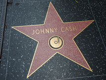 Johnny Cash star in hollywood Royalty Free Stock Photo