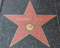 Johnny Cash Star på Hollywood går av berömmelse arkivbilder