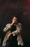 Johnny Clegg, das an der Stufe durchführt lizenzfreie stockfotos
