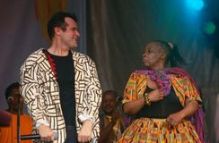 Johnny Clegg performing on stage Royalty Free Stock Image