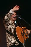 Johnny Clegg performing on stage Stock Image