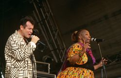 Johnny Clegg performing on stage Royalty Free Stock Photo